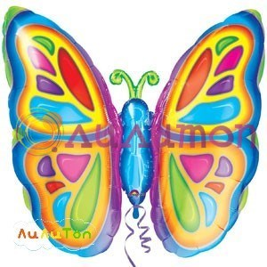 """Фольгированный шар """"Тропическая бабочка"""" - фото 4326"""