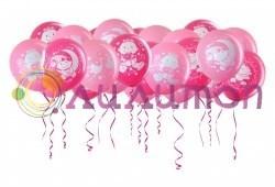 Воздушные шары  под потолок 'Новорождённой девочке'