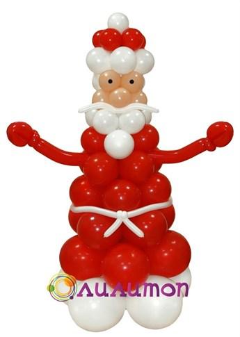 Дед мороз из шаров - фото 4451