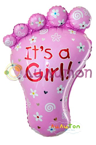 Фольгированный шар 'Ножка девочки'