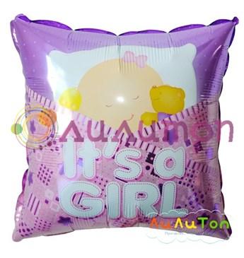 Фольгированный шар 'Подушка с малышкой'
