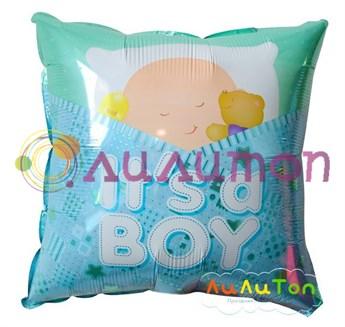 Фольгированный шар 'Подушка с малышом'