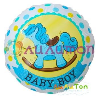"""Фольгированный шар """"Лошадка для мальчика"""" - фото 4463"""