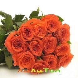 9 оранжевых роз