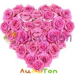 Сердце из розовых роз - фото 4518