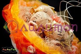 Букет из игрушек 'Рыжий апельсин'