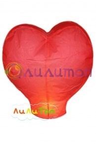 Небесный фонарик 'Красное сердце'