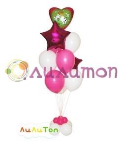 """Букет из воздушных шаров """"Зелёная полянка"""" - фото 4663"""