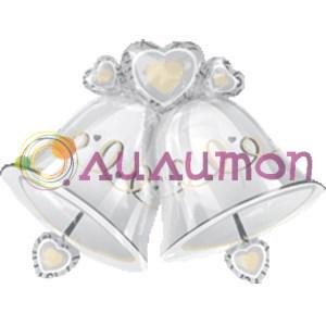 Фольгированный шар 'Свадебный колокольчик'