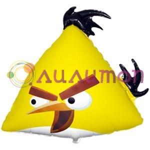 Фольгированный шар 'Ангри Бёрдс жёлтый'