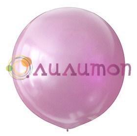 Большой розовый шар металлик 80см
