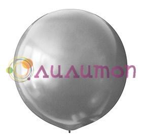 Большой серебристый шар металлик 80см