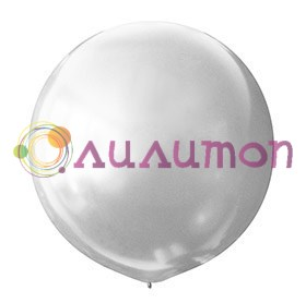 Большой шар белый перламутр 80см
