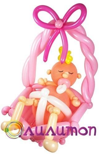 Малышка из шаров - фото 5244