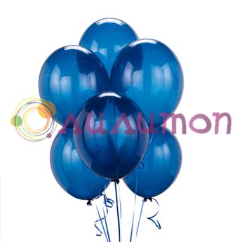 Облако из синих воздушных шаров
