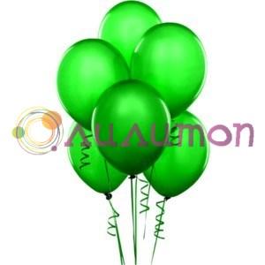 Облако из зелёных воздушных шаров