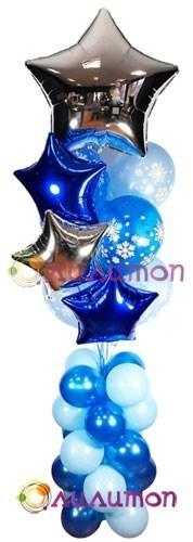 """Букет из воздушных шаров """"Морозное утро"""" - фото 5289"""