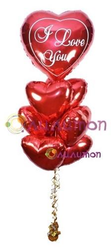 Букет из воздушных шаров 'Сердца'