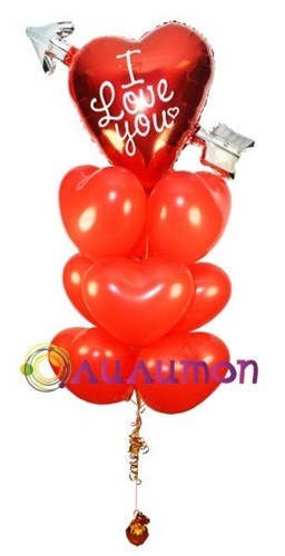 Букет из воздушных шаров 'Пламя страсти'