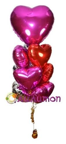 Букет из воздушных шаров 'Нежное сердце'