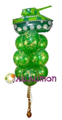 """Букет из воздушных шаров  """"Танкисту :-)"""" - фото 5412"""
