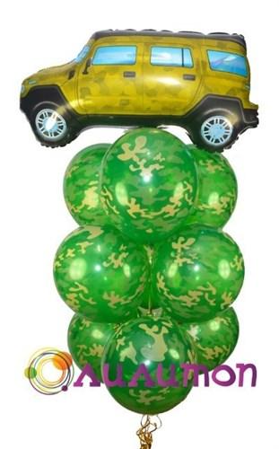 """Букет из воздушных шаров  """"Защитнику"""" - фото 5421"""