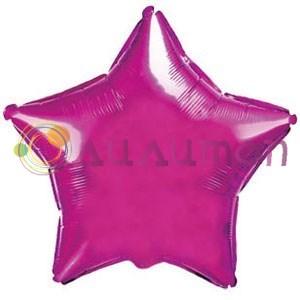 Фольгированный шар 'Большая розовая звезда' 65см
