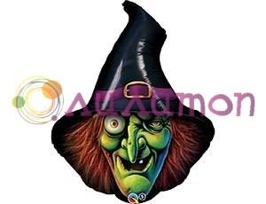 Фольгированный шар 'Голова ведьмы'