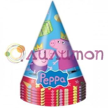 Колпаки 'Пеппа-принцесса', 6 штук