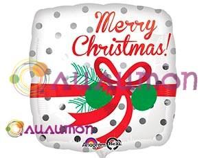 Фольгированный шар 'Merry Christmas' 40 см