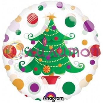 Фольгированный шар 'Елка' 40 см