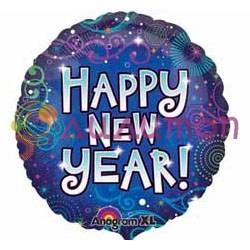 Фольгированный шар 'Happy New Year'