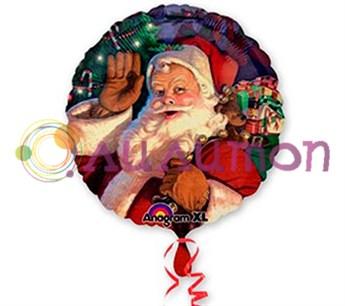 Фольгированный шар'Санта с мешком' 40 см