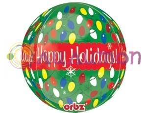 Фольгированный шар 3D 'Новогодняя гирлянда'
