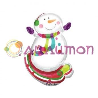 Фольгированный шар 'Снеговик радостный'