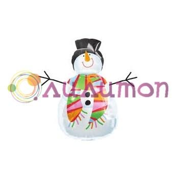 Фольгированный шар 'Снеговик'
