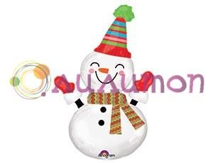Фольгированный шар 'Snowman'