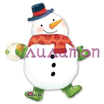 Фольгированный шар 'Снеговик с шарфом'