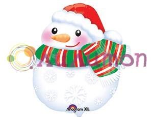 Фольгированный шар 'Снеговик в шарфе'