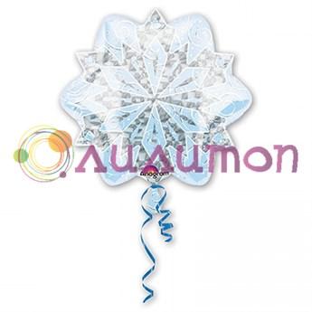 Фольгированный шар  'Яркая снежинка'