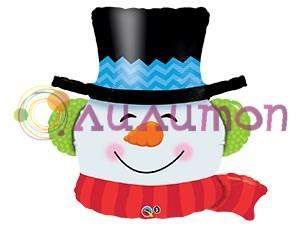Фольгированный шар 'Снеговик голова'
