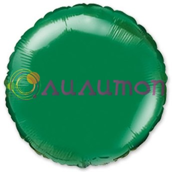 Фольгированный шар 'Зелёный круг' 40 см