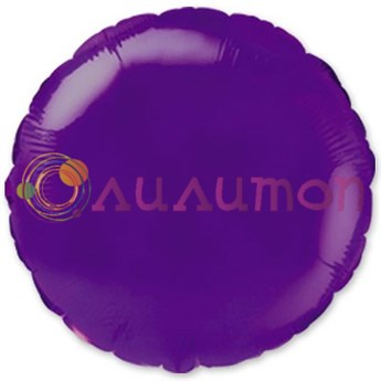 Фольгированный шар 'Фиолетовый круг' 40 см