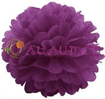 Помпон 35 см (пурпурный)
