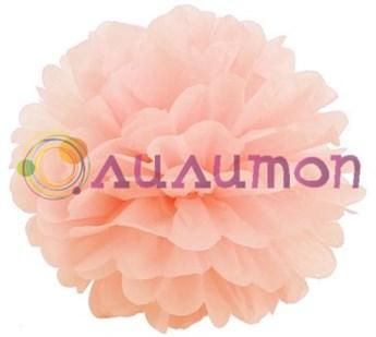 Помпон 25 см (персиковый) - фото 7140