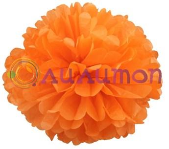 Помпон 25 см (оранжевый)