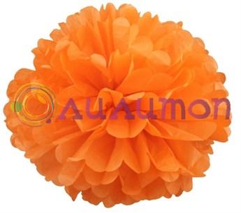 Помпон 35 см (оранжевый) - фото 7158