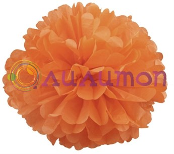 Помпон 35 см (темно-оранжевый) - фото 7173