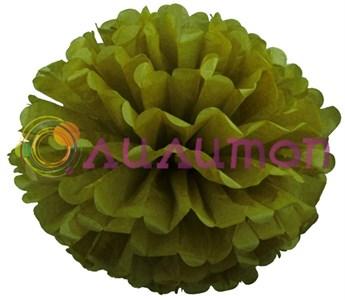 Помпон 35 см (оливковый)