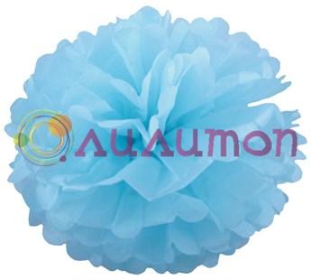 Помпон 15 см (голубой) - фото 7267
